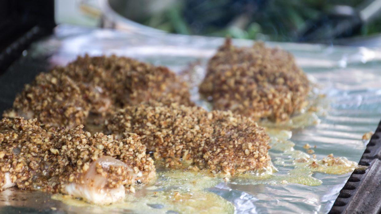 Pecan Crusted Chicken & Seasonal Vegetables