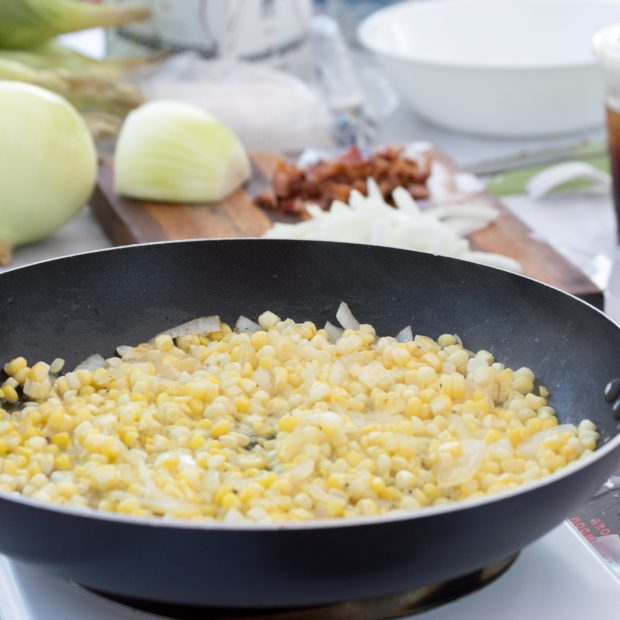 Skillet Fried Corn & Bacon